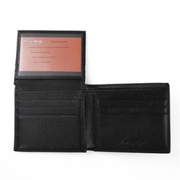 Wholesale Freeshipping New Designer Mens RFID Security Wallet RFID Leather Wallet Flip ID Card Holder Black Brown Colors with New Gift Box