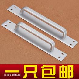 Wholesale Modern space aluminum door handle black European fire door handle door armrest bathroom B869 channel