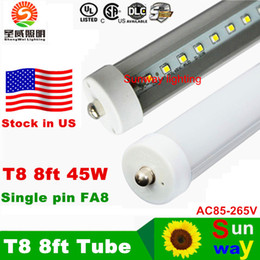 Wholesale Stock In US feet led ft single pin t8 FA8 Single Pin LED Tube Lights W Lm LED Fluorescent Tube Lamps V