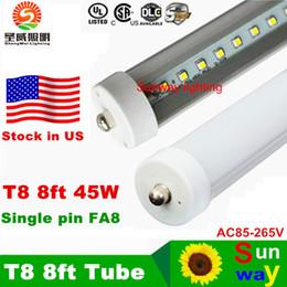 Wholesale Stock In US feet led ft single pin t8 FA8 Single Pin LED Tube Lights W Lm LED Fluorescent Tube Lamps V