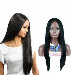 Full Lace Human Hair Wigs For Black Women Full Lace Human Hair Ponytail Wig Straight Ful Lace Brazilian Wig With Baby Hair
