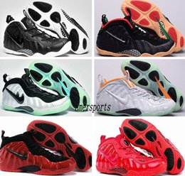 Wholesale 2016 Air Penny Hardaway Shoes Galaxy One Mens Basketball Shoes Retro Olympic Basket Ball Running Shoes Men Foams Cheap Sneakers Red