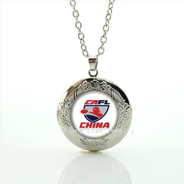 Wholesale China Sports Necklace - New fashionable stylish jewelry locket necklace Souvenirs jewelry gift with China Newest mix 32 sport team for friend NF041