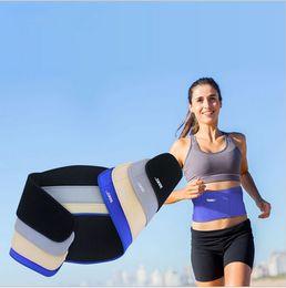 Wholesale DHL Yoga fitness Waist Back Brace Support Sports Adjustbable Bodybuilding Belt Lumbar Strain Pain Protector Colors
