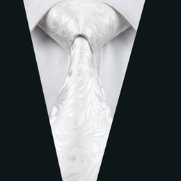 New Summer Brand Business Wedding Ties For Men Suit New White Floral Printed Silk Vestidos Necktie Cravat ties D-1163