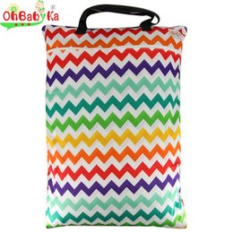 Wholesale Infant Cloth Diaper Mummy Baby Bag Reusable Large Wet Dry Bag for Mom Easy to Take Cloth Diaper Nappy Bag with Zippered Pockets