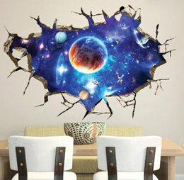 Wholesale wall stickers home decor D kids room sticker wall decor Stereoscopic Blue Sky Wall Paper New wall stickers star wars wall decals