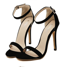 women thin high heel shoes open toe brand female fashion heeled sexy pumps heels shoes plus over size