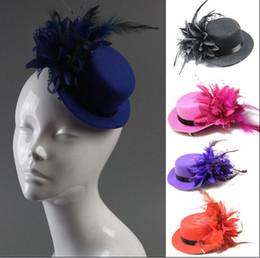 Mode femme mariée fascinator mini-top clips ruban de mariage cheveux gaze fleur dentelle plume chapeaux de fête de chapeau de chapeau casquettes MILLINERY bijoux de cheveux millinery ribbon for sale à partir de ruban de chapellerie fournisseurs