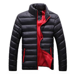 Wholesale 2016 Winter down jacket men Down Content thin ultra light down jacket winter long sleeve solid winter coats pocket fashion