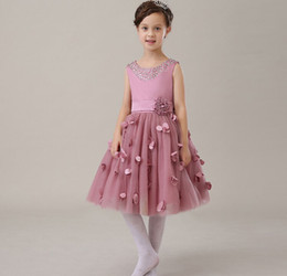 Glizt Fuchsia Appliques Tulle Tutu Girl Birthday Dress Baby Girls Party Dress Wedding Ball Gown Flower Girls Clothes