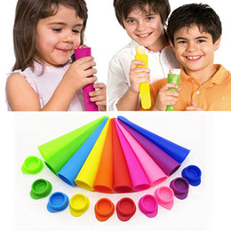 10 Colors Soild Color Silicone Ice Pop Mold with Lid Ice Cream Makers Push Up Ice Cream Jelly Lolly Pop For Popsicle