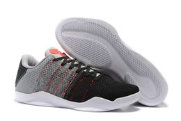 2016 New Kb 11 Elite Low Tinker Black Cement Sneakers Men Kb11 Black Silver Grey Red Mens Basketball Shoes Cheap for sale