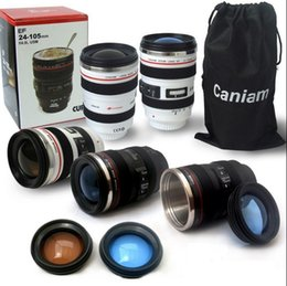 Wholesale Canon Camera Lens Shaped mm Hot Cold Coffee Tea Cup Mug Thermos Caniam G6 White Black