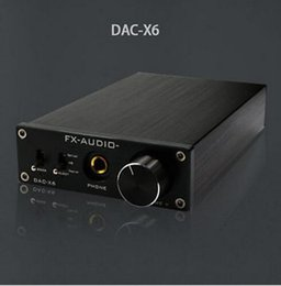 Wholesale FX Audio Feixiang DAC X6 HiFi amp Optical Coaxial USB DAC Mini Home Digital Audio Decoder Amplifier BIT V Power Supply