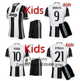 Wholesale New Best quality POGBA DYBALA Kids soccer shirts MORATA home MARCHISIO Custom children Soccer