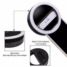 Descuento anillo de luz led de la cámara 100pcs portátil LED Selfie anillo de luz de relleno de Flash cámara de proyector cámara para el iPhone Android Phone