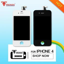 Precio barato para la asamblea libre del sistema completo de Digitaces de la exhibición de la pantalla táctil del reemplazo de DHL del envío de 20pcs DHL + LCD para el iPhone 4 4G 4S lcd desde iphone 4s conjunto completo fabricantes
