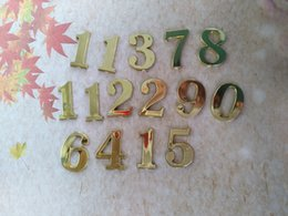 Wholesale cm Clock Numbers Gold Arabic numbers for Clock Accessories