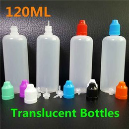 120ml PE E Liquid Bottle Dropper Plastic 120 ml E-Juice Empty Bottles Child Proof Caps Long Thin Needle Tips Translucent Bottle For Sale