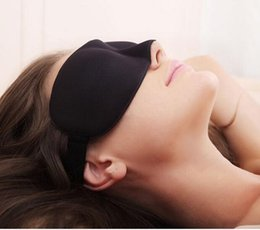 Wholesale 3D Health care black sleeping mask eye cover for sleeping eyeshade snoring products Travel Sleep Aid Cover Light Guide DDD2439