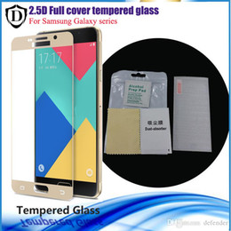 Wholesale 10pcs Full Toughened Glass Membrane Protective For Samsung Galaxy C7 C5 A510 A710 A910 Note Cover Whole Screen Protector with package