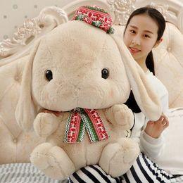 Wholesale 32 cm Lovely loppy eared rabbit plush toy rabbit baby doll small white rabbit doll pillow doll girl a birthday presen