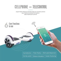 Wholesale Bluetooth music LED Scooters Hoverboard SUPER POWER APP FUNCTION Electric Scooter ONE KEY SWITH Two Wheels Smart Balance Drifting Board