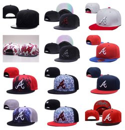 Wholesale 2016 New Men s Atlanta Braves Snapback Hats Team Logo Embroidery Sports Adjustable Baseball Caps Fashion Reflective Style Hats