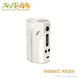 Hottest vapor mod WISMEC Reuleaux RX200 Stainless Steel 510 Thread Spring Connector Black White Express Kit