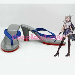 Wholesale Custom Made Japanese Anime Kantai Collection Fleet Girls Kinugasa Gallery Cosplay Shoes Slipper Boots For Halloween Christmas
