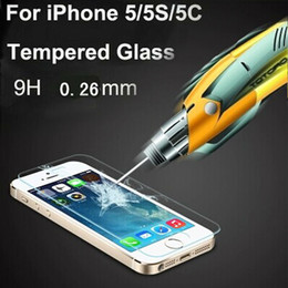 Wholesale 0 mm D Tempered Glass screen Film Explosion Proof Screen Protector For iPhone S c HD Toughened Protective Film Cleaning Kit