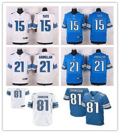 Wholesale Elite Mens Detroit football jerseys Lions Matthew Stafford Golden Tate III Johnson Ameer Abdullah Stitched shirts