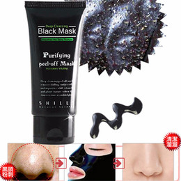 Wholesale Best selling SHILLS Deep Cleansing purifying peel off Black mud Blackhead Removal facial mask ml with retail box