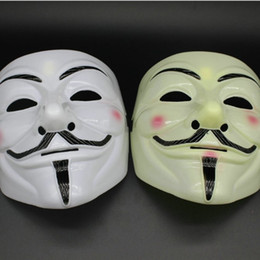 Wholesale New Arrival V Mask Masquerade Masks For Vendetta Anonymous Valentine Ball Party Decoration Full Face Halloween Super Scary Party Mask