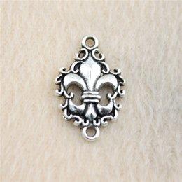 40Pcs 23*15mm antique Silver Tonefleur de lis Charms Zinc Alloy DIY Handmade Jewelry Pendants Wholesale