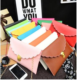 Free Shipping+Wholesale Womens Envelope Scalloped Edge Clutch Purses Lady Handbag Tote Shoulder Hand Bag