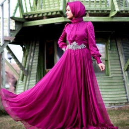 Arabic Turkish Muslim Long Sleeve Evening Dresses Dubai Kaftan Saudi Arabian Abaya Caftan Evening Gowns robe de soiree Abendkleider Vestidos