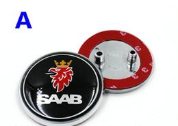 Wholesale 68mm For SAAB Rear Boot Badge Trunk Emblem car hood ornaments For saab emblem pins