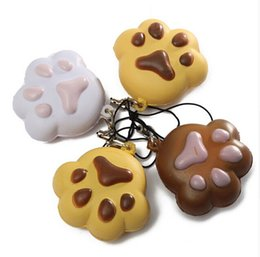Wholesale Best Promotion Kawaii Claw Puppy Dog for Cat Footprint Squishy Bread Keychain Bag Phone Charm Strap
