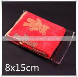 200pcs despejan los mini pequeños bolsos plásticos para la joyería 8x15 cm bolso auto del pegamento OPP del sello desde pequeñas bolsas de plástico adhesivo transparente proveedores
