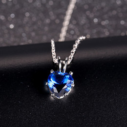 Wholesales fashion cz pendant sapphire heart pendant jewellery high quality with different color 6 pcs one lot