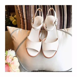 Wholesale Ladies Sandals paris fasion show item best cowskin vamp and inside italian double genuine leather tread heel high cm wear steadly size