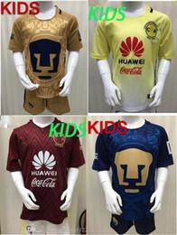 Wholesale 2016 LIGA MX Mexico Club America kids Soccer Jerseys O PERALTA SAMBUEZA UNAM PUMAS Benfica Boys best gift football Shirts
