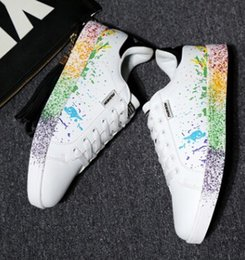 Wholesale Christmas gift Amazon explosion paragraph ink jet color Smith low to help couple sports trend shoes women