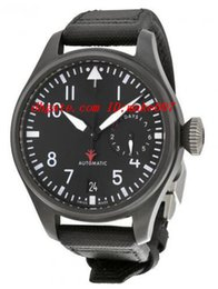 Wholesale Top Quality Luxury Wristwatch Big Pilot Top Gun Black Dial Quartz Power Reserve Men s Watch MM Mens Watch Watches