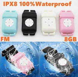 Wholesale Best Quality Waterproof Real GB IPX8 Waterproof Sports Headphone Mp3 Player Download for Swimming Surfing Diving with FM Radio colors In