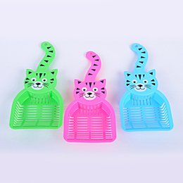 Wholesale pet cat litter shovel cat litter scoop cute cat tail design PP WA0777