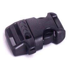 Wholesale Plastic bags buckle for Paracord Bracelet survival whistle outdoor survival equipment webbing Bag Parts mm