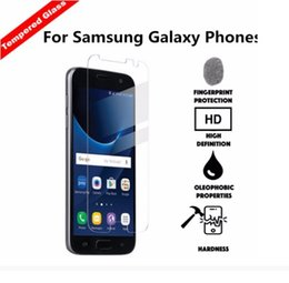 Wholesale Tempered glass For Samsung A7100 A9100 J710 Premium Tempered Glass Film Screen Protector for samsung j120 j210 j310 with retial packing